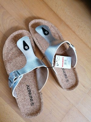 Infinity Toe-Post sandals silver-colored