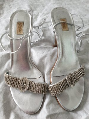 Buffalo Lace-up Pumps silver-colored