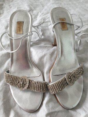 Sandalen silber, Buffallo, Gr. 39