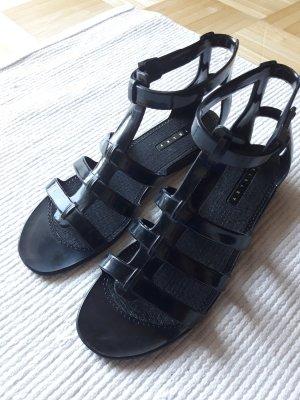 Sisley Sandalo con tacco alto e lacci a T nero
