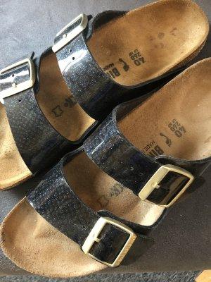 Birkenstock Sandalo comodo nero-blu scuro