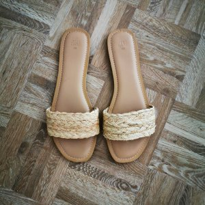 H&M Sandały z rzemykami jasnobeżowy-beżowy