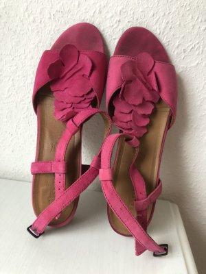 Tamaris Sandały z rzemykami różowy