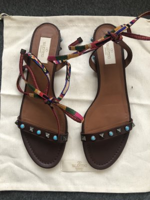 Valentino Garavani Roman Sandals dark brown