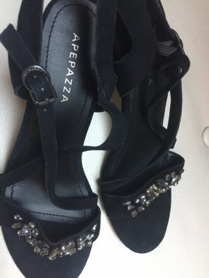 Apepazza Strapped Sandals black leather
