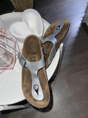 Birkenstock Flip-Flop Sandals silver-colored-brown