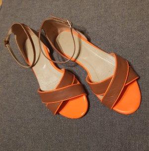 Sandalen von Boden braun/ neon orange  Größe 37