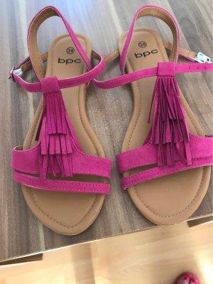 Sandalen von bpc mit Fransen pink Gr.38 neu