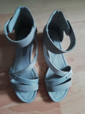 Bruno Banani Strapped Sandals grey-silver-colored leather