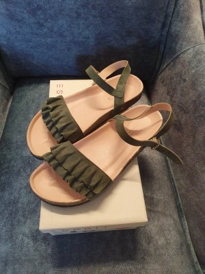 esprit collection Comfort Sandals forest green-khaki