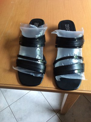 Sandalen von Esprit, schwarz, Gr. 38, Absatz ca. 3 cm NEU