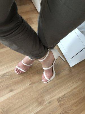 H&M Sandales à talons hauts et lanière blanc