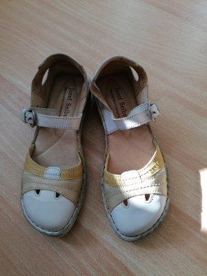 Josef seibel Wygodne sandały kremowy-jasnożółty