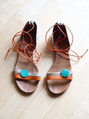 Strapped Sandals multicolored leather