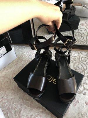 Maje Roman Sandals black-bordeaux