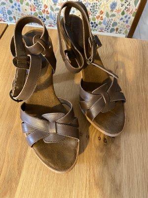 Campus Marco Polo Platform Sandals dark brown