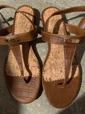 Polo Ralph Lauren Sandales à lanière brun-doré