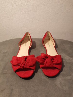 Promod Peep Toe Ballerinas red