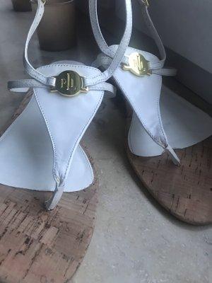 Lauren by Ralph Lauren Toe-Post sandals white
