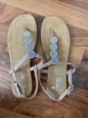 Rieker Sandalo toe-post beige-azzurro