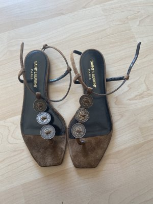 Saint Laurent Roman Sandals brown