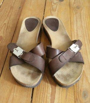 Scholl Comfort Sandals dark brown