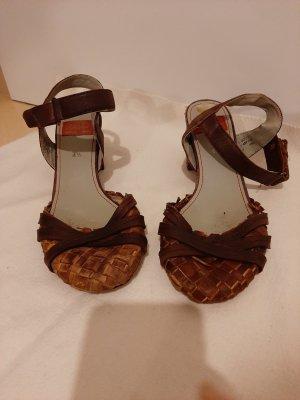 Sioux Sandalias de tacón con plataforma marrón