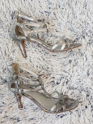 Tamaris Tacones de tiras color plata-gris claro