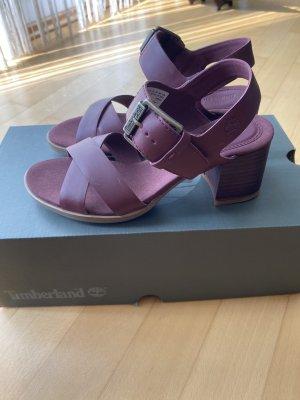 Timberland Chodaki bordo-purpurowy Skóra