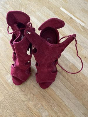 Topshop Strapped Sandals dark red