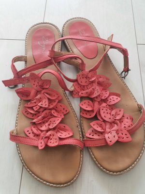 Zign Strapped Sandals bright red-raspberry-red