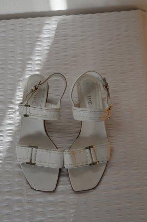 Sandalen * weiß * Maripe * 38 * 5 cm Absatz