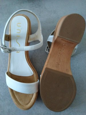 Unisa Comfort Sandals white leather