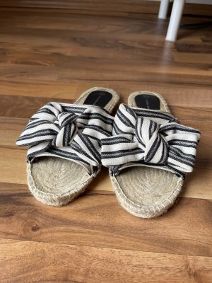 Claudia Ghizzani Espadrille sandalen wit-donkerblauw