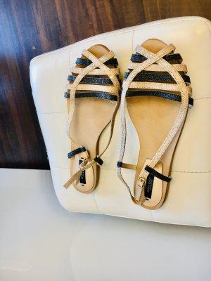 Zara Basic Sandalo comodo oro-blu scuro