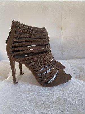 Zara Sandały rzymskie szaro-brązowy-taupe