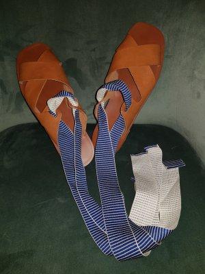 Sandalen Zara Gr.40 echtleder Wechselband cognac,blau,rot