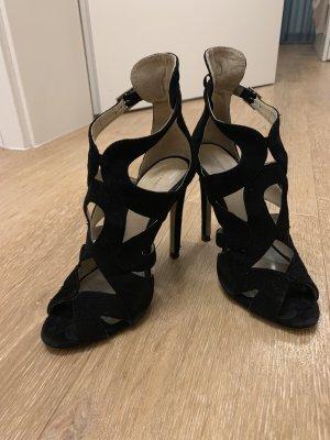 Zara Basic Sandalen met bandjes zwart