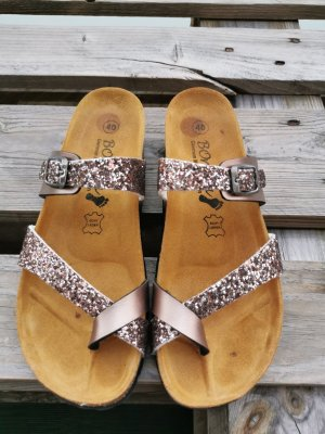 TK Maxx High-Heeled Toe-Post Sandals multicolored leather