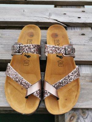 Sandalen zehentrenner Glitzer