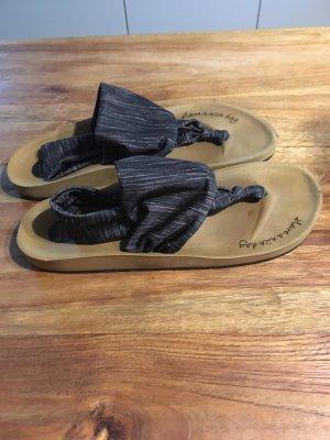 Sandalo toe-post antracite-marrone