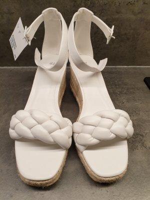 Sandalette geflochten weiss