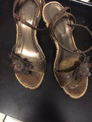 van der Laan Platform High-Heeled Sandal brown