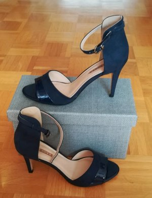 Buffalo Strapped High-Heeled Sandals dark blue