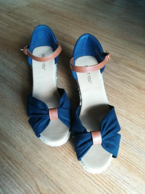 About You Sandaletto con tacco alto blu scuro-beige