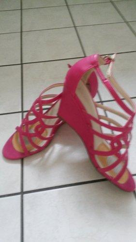3 Suisses Hoge hakken sandalen roze Leer