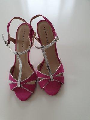 Sandalette Pink Silber