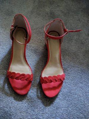 Sandalette Riemchen Rot Größe: 40 Marke: H&M