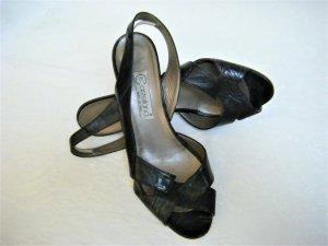 Sandalo outdoor nero Pelle