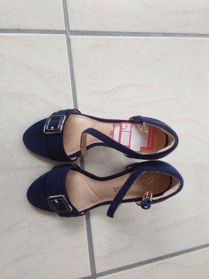 Clarks High Heel Sandal dark blue